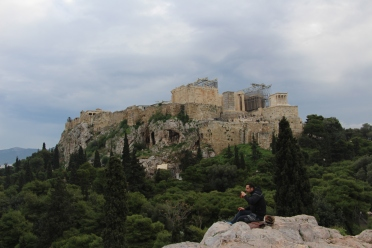 The Acropolis as seen from Hill of Ares