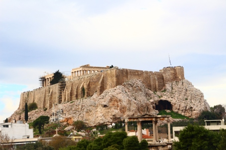 The Acropolis, viewed from the Temple to Olympian Zeus.