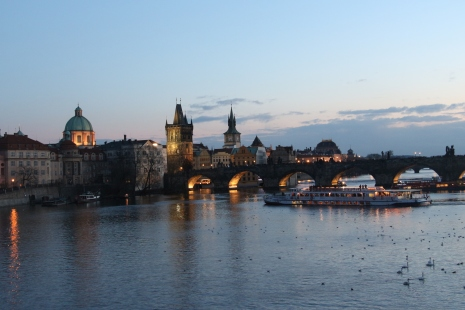 Charles Bridge spanning the Vltava River