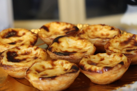 Pasteis de Belem...in 1837, the baking of this yummy pastry was begun in a building adjacent to a sugarcane refinery following the secret recipe from the monks in Mosteiro dos Jeronimos in Belem.