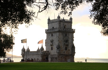 Belém Tower or the Tower of St Vincent at the mouth of the Tagus River
