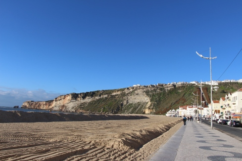 The town of Nazare where Garrett McNamara set the world record for the biggest wave ever surfed.