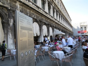 Café Florian in Venice...coperto at €6 per person!