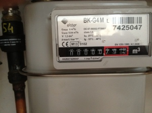 Reading a gas meter...frustrating exercise in futility.